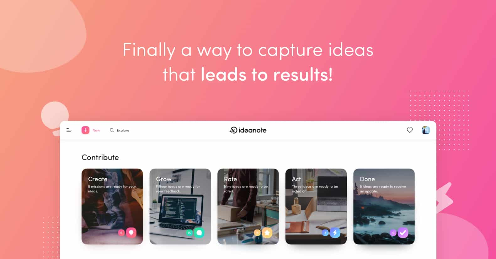 Ideanote – Finally a way to capture ideas that leads to results!